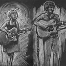 Wesley Anne guitar studies - Emma Heeney and Justin Heazlewood by Alex e Clark