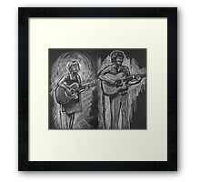 Wesley Anne guitar studies - Emma Heeney and Justin Heazlewood Framed Print