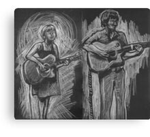 Wesley Anne guitar studies - Emma Heeney and Justin Heazlewood Canvas Print
