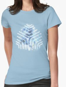 Graphic Nebula Blue Womens Fitted T-Shirt