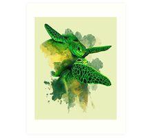 Gliding the Green Art Print