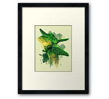 Gliding the Green Framed Print