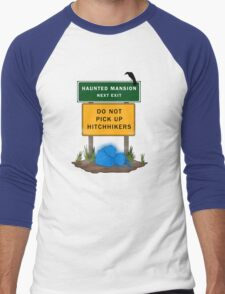 Beware of Hitchhiking Ghosts Men's Baseball ¾ T-Shirt