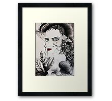 Be Connected with Your Inner Fire. Framed Print