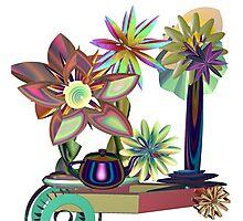 Flower Cart Photographic Print