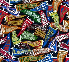 Colorful Sports Fan Pennants by HavenDesign