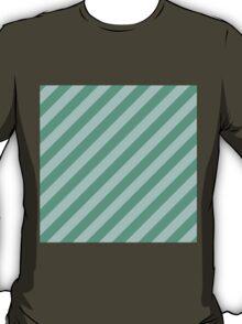Mint Thick Tinted Diagonal Stripes T-Shirt