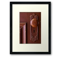 Vintage Door Knob Framed Print