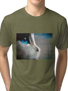 Blue Eyed Cat Tri-blend T-Shirt
