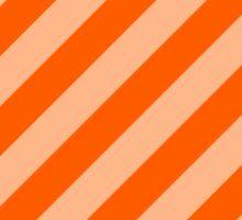 Peach Thick Tinted Diagonal Stripes Sticker