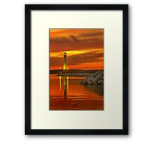 Wawatam Lighthouse in St. Ignace Framed Print