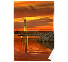 Wawatam Lighthouse in St. Ignace Poster