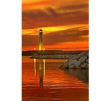 Wawatam Lighthouse in St. Ignace Photographic Print