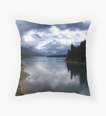 Lake Maligne (1) Throw Pillow