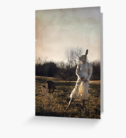 Country Rabbit Greeting Card