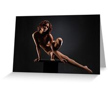 Platform Work #0953, a nude by Chris Maher Greeting Card