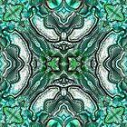 Teal abstract metallic by MelDavies