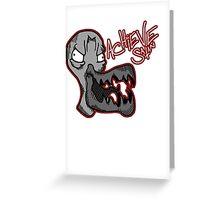 Achieve Satan! Greeting Card