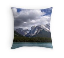 Mountains-Lake Maligne Throw Pillow