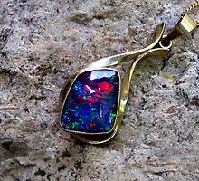 Black Opal Pendant by Vanessa Barklay