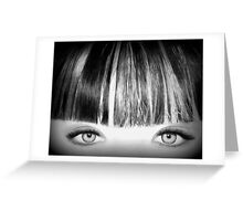 Blue Eyes Pencil Drawing in Black and White  Greeting Card