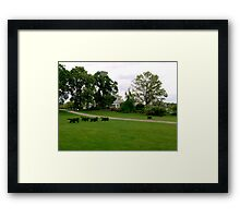 Fox and Hounds Topiary Framed Print