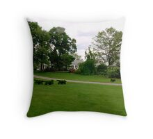 Fox and Hounds Topiary Throw Pillow