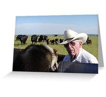 Eastern Montana Rancher Greeting Card