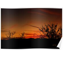 Southwest Amber Fading Glow Poster