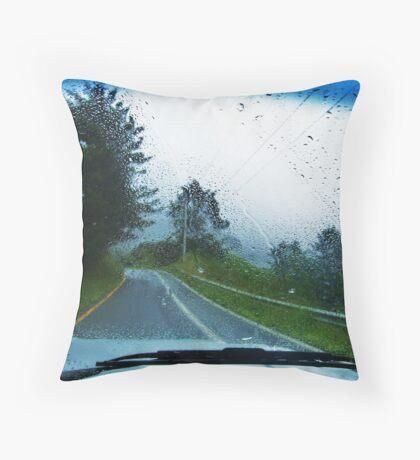 Rainfall in Oregon Throw Pillow