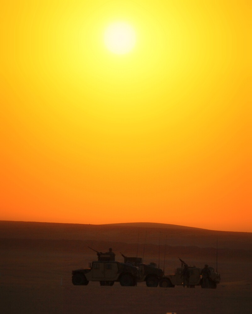 Iraqi Sunset by Joshua Eklund