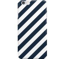 Navy Thick Diagonal Stripes iPhone Case/Skin