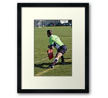 Touch Judge Framed Print