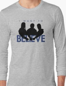 I Want to Believe (White) Long Sleeve T-Shirt