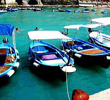 Blue boats by diLuisa Photography