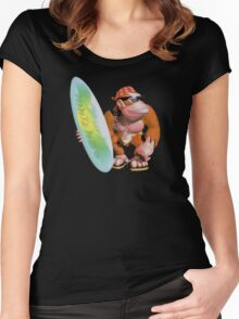Funky Kong Women's Fitted Scoop T-Shirt