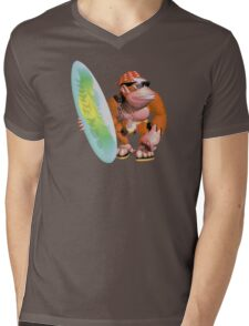 Funky Kong Mens V-Neck T-Shirt
