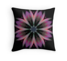 Galactic Boutonniere (fractal kaleidoscope & poem) Throw Pillow