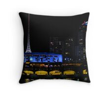 Melbourne Arts Centre by Night Throw Pillow