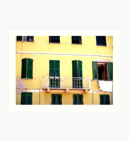 Vernazza Windows Art Print