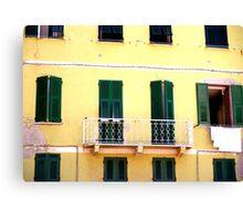 Vernazza Windows Canvas Print
