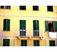 Vernazza Windows Photographic Print