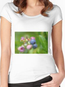 Blueberry fruit Women's Fitted Scoop T-Shirt