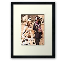 Old age couple Framed Print