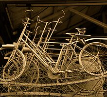 Bunch of bicycles by Christian Langenegger