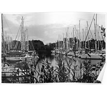 chichester marina black and white . Poster