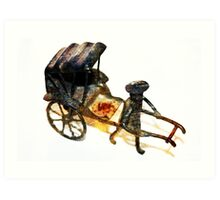 Man with Rusted Cart Art Print