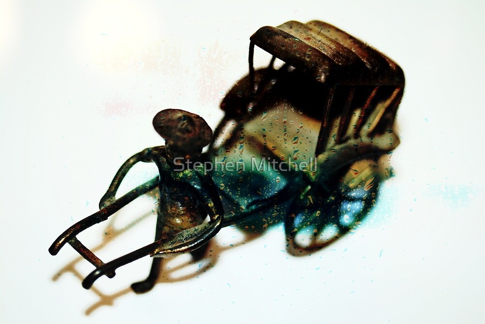 Man with Rusted Cart III by Stephen Mitchell