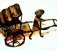 Man with Rusted Cart IV by Stephen Mitchell