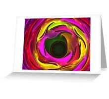 Colorful Psychedelic Greeting Card